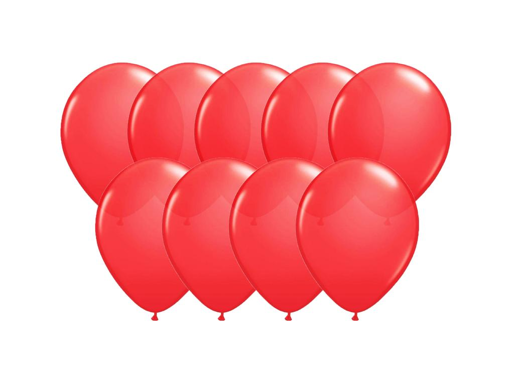 Value Mini Balloons 50PK - Apple Red