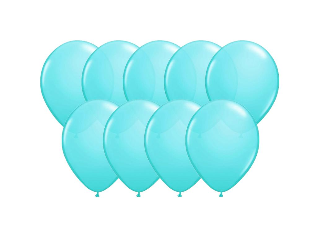 Value Mini Balloons 50PK - Robins Egg Blue