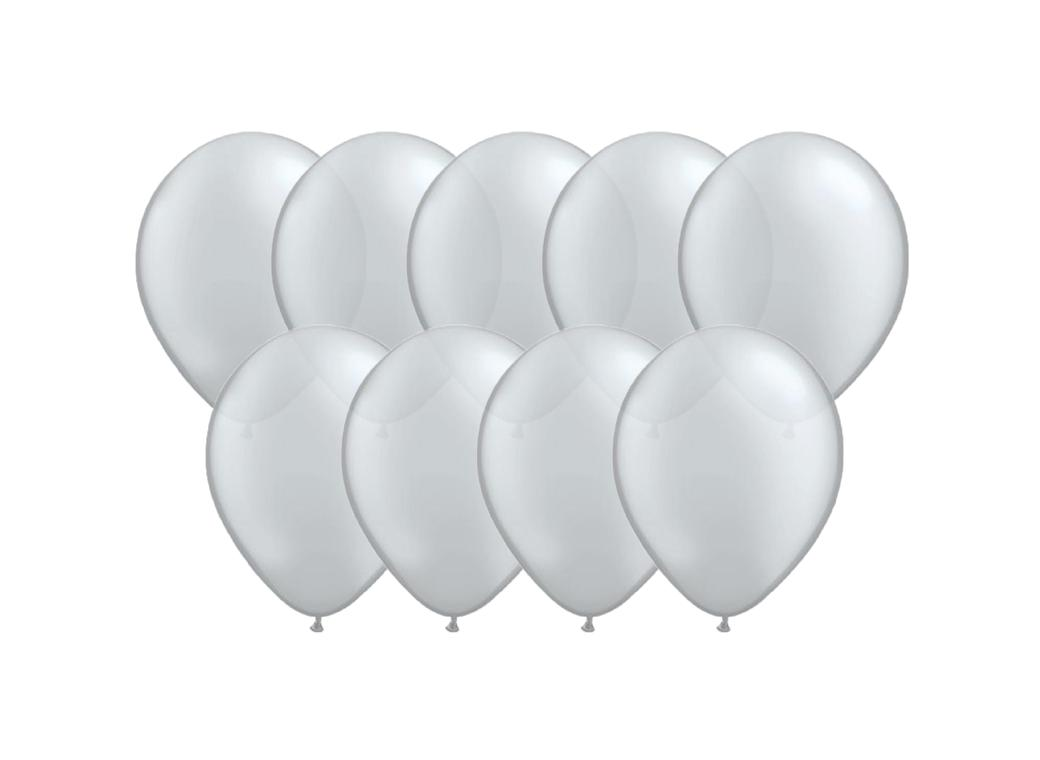 Value Mini Balloons 50PK - Silver