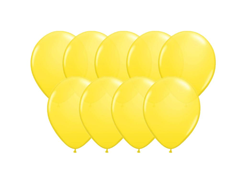 Value Mini Balloons 50PK - Yellow