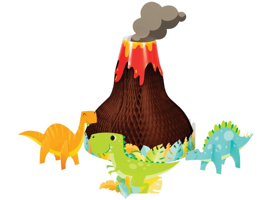 Dino Party Volcano Honeycomb Centrepiece