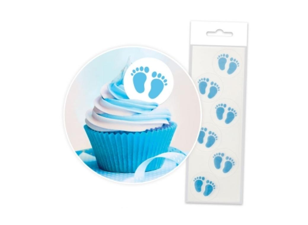 Wafer Baby Feet - Blue