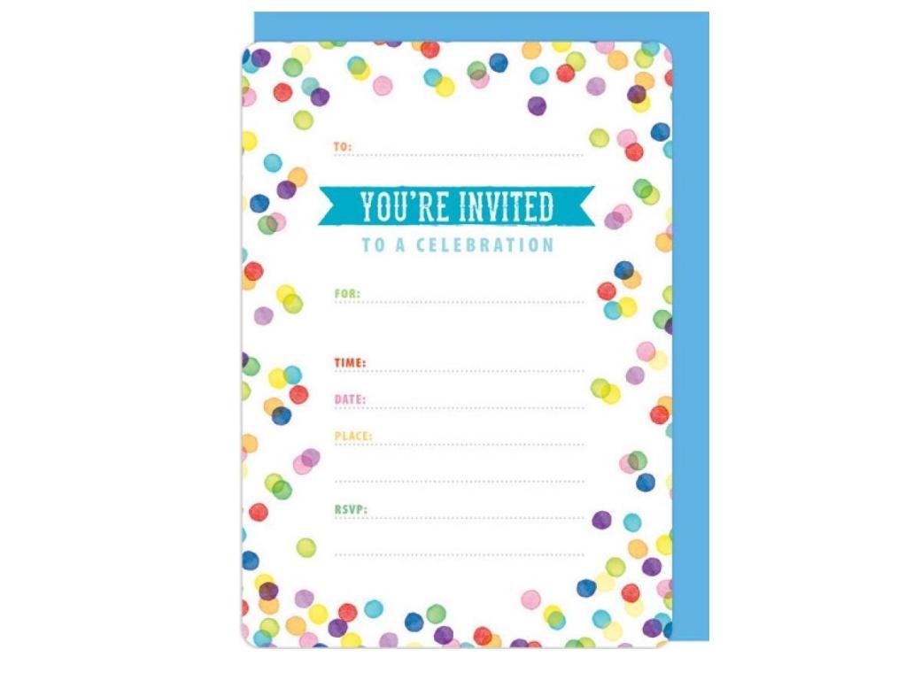 Confetti Invitations 16pk
