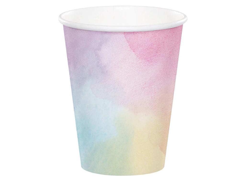 Watercolour Cups 8pk