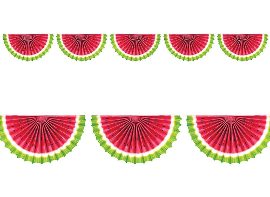 Watermelon Fan Bunting