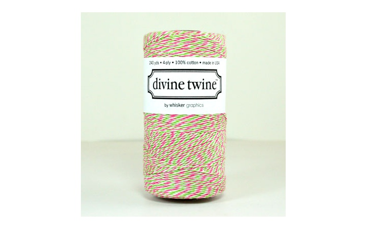 100% Cotton Bakers Twine - Watermelon