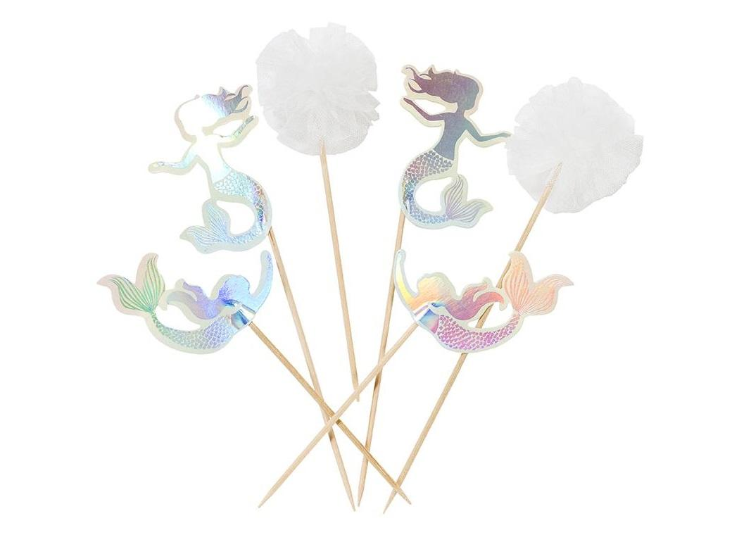 We Heart Mermaids Cake Toppers 12pk