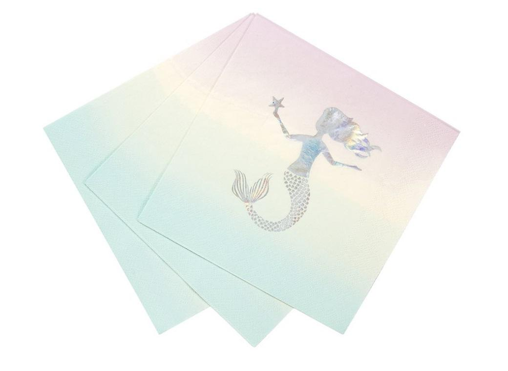 We Heart Mermaids Napkins 16pk