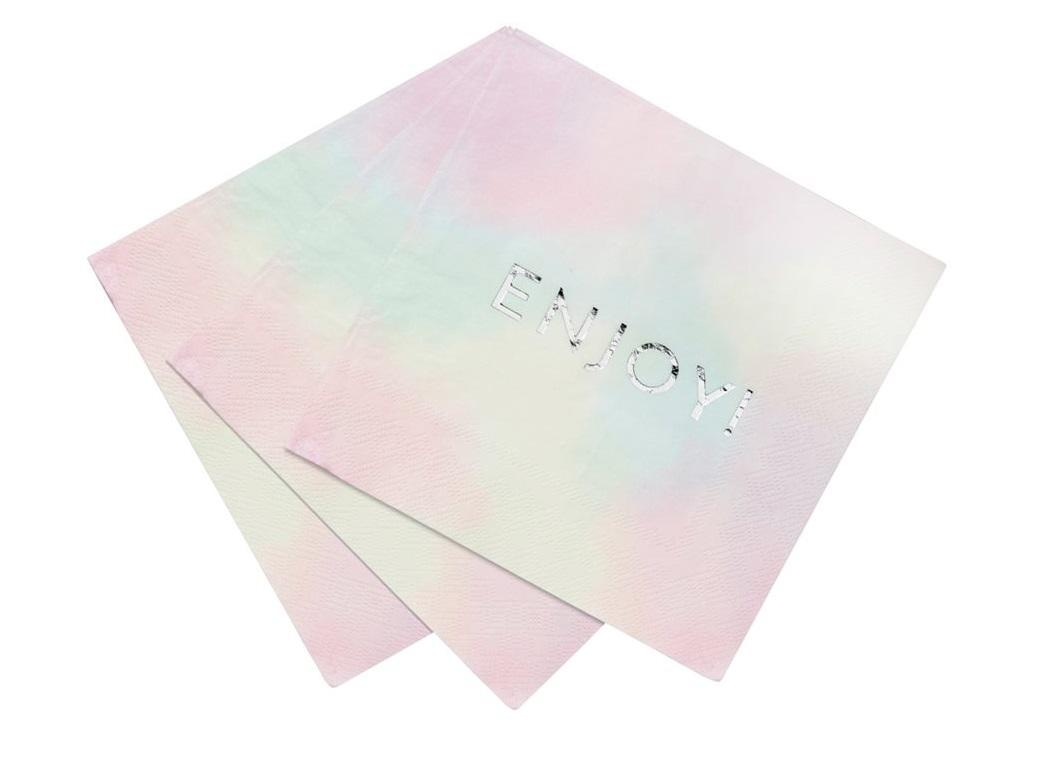 We Heart Pastel Enjoy Napkins 16pk
