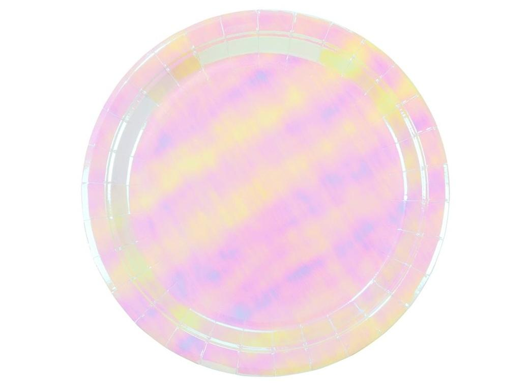 We Heart Pastel Iridescent Plates 12pk