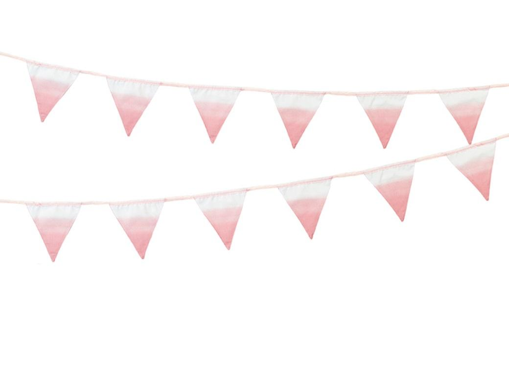 We Heart Pink - Pink Fabric Bunting