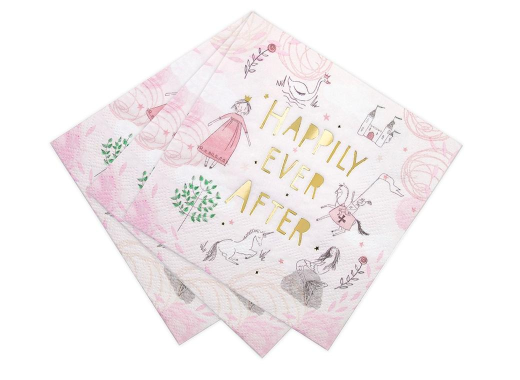 We Heart Fairytale Napkins 16pk
