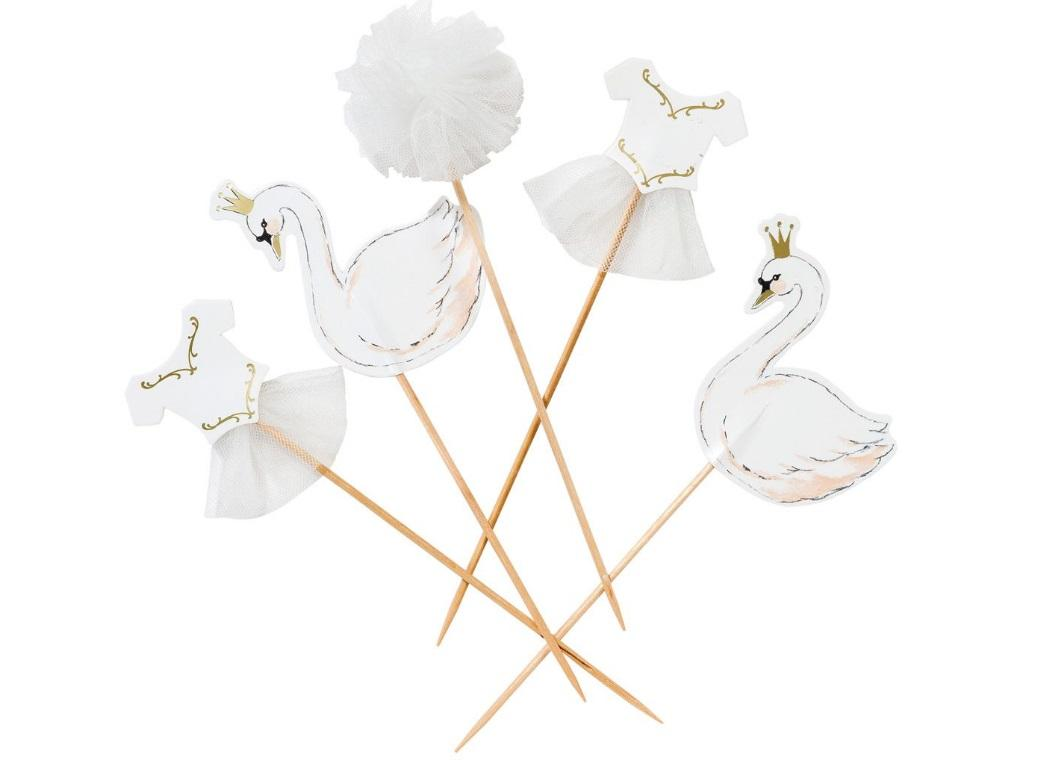 We Heart Swans Cake Toppers 12pk