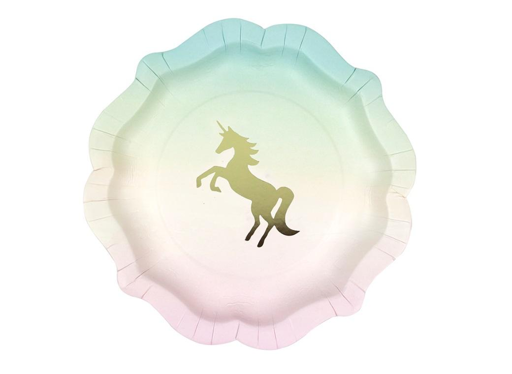 We Heart Unicorn Plates 12pk
