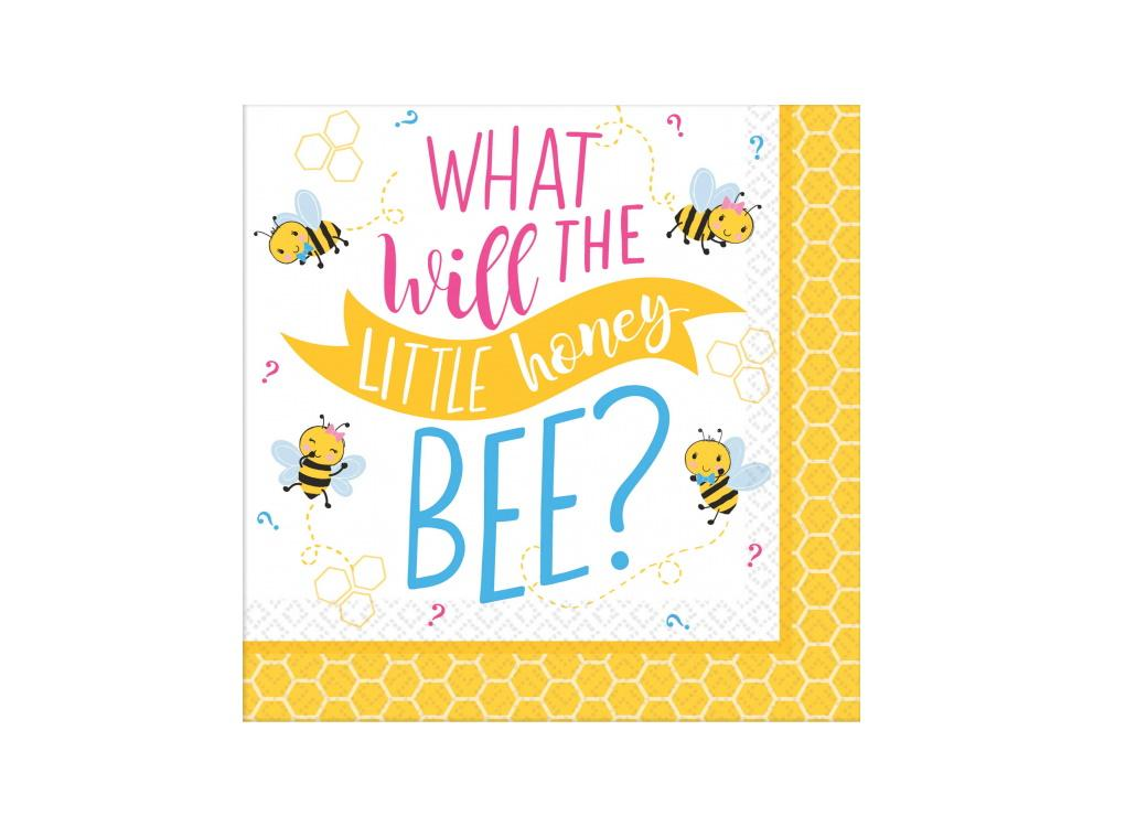 What Will It Bee? Beverage Napkins 16pk