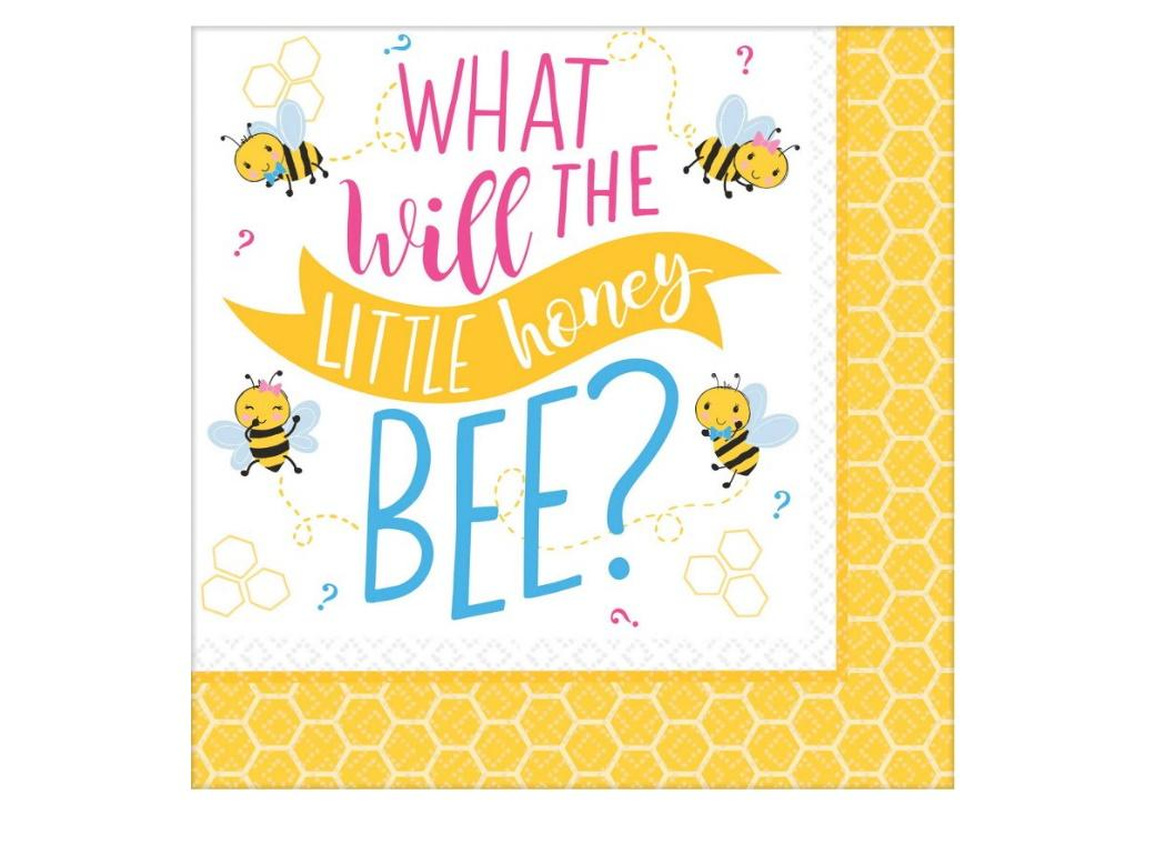 What Will It Bee? Lunch Napkins 16pk