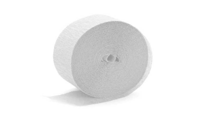Crepe Paper Streamer - White