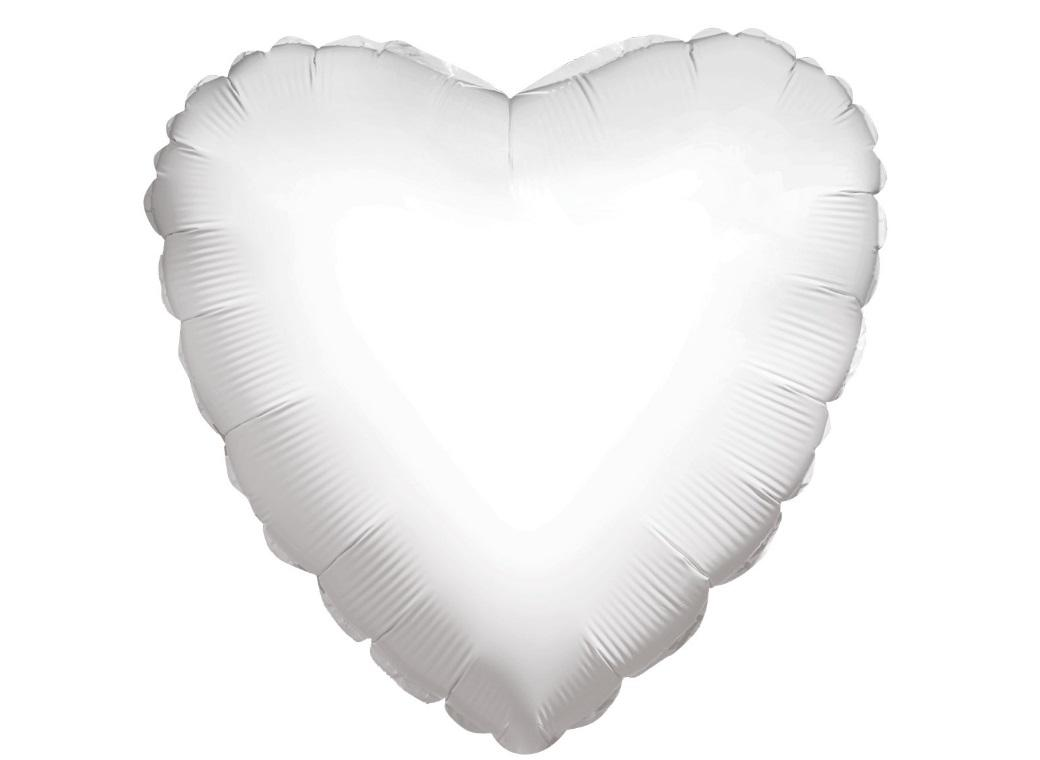 Heart Shaped Foil Balloon - White