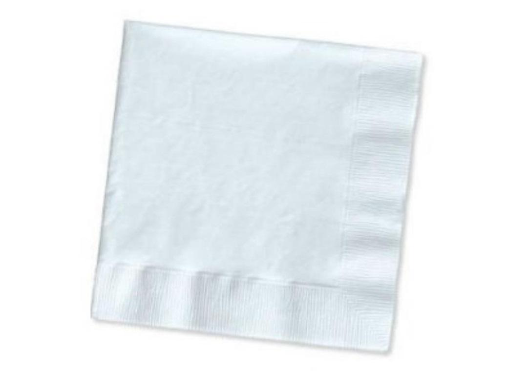 White Lunch Napkins 50pk