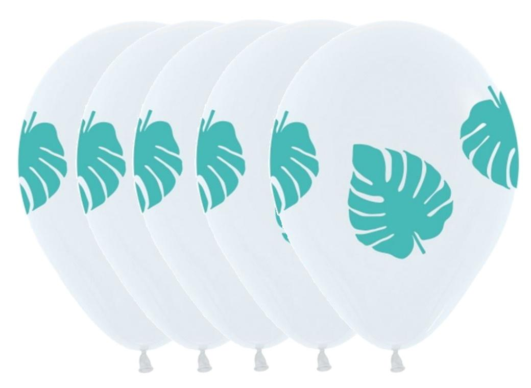 White Palm Balloons 5pk