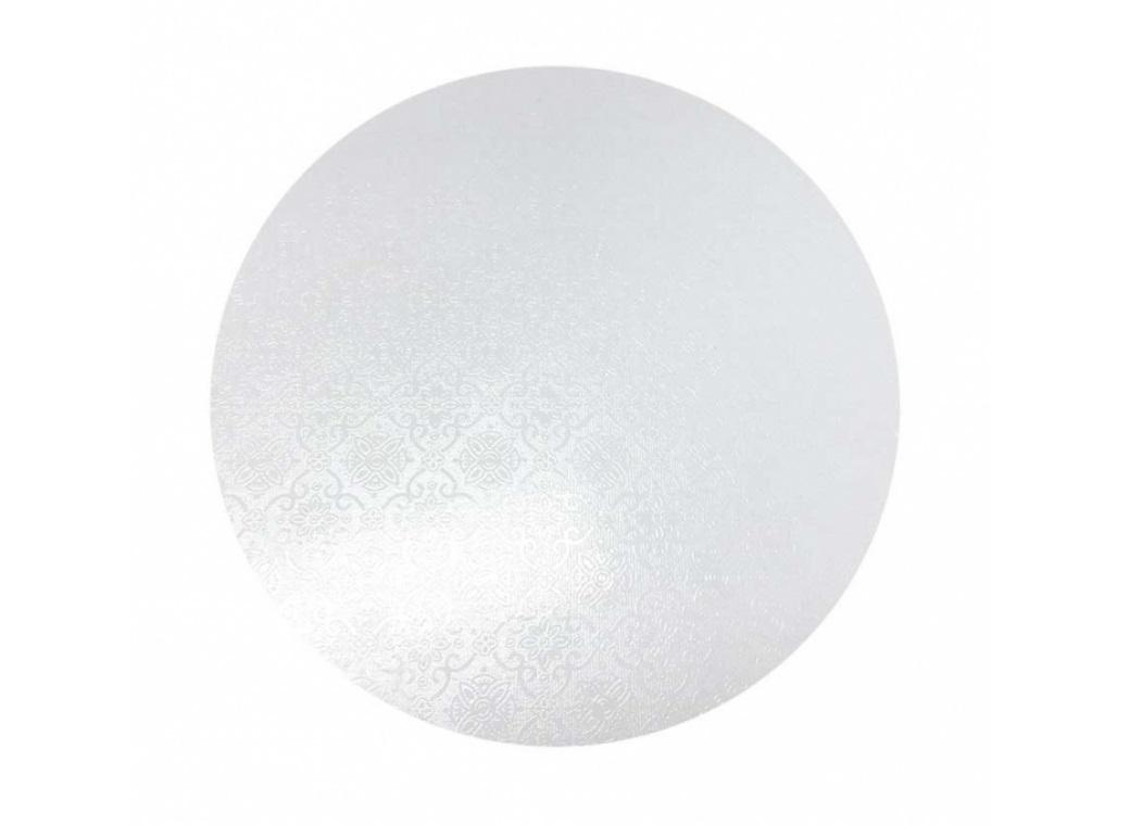 White Masonite Cake Board Round - 13""