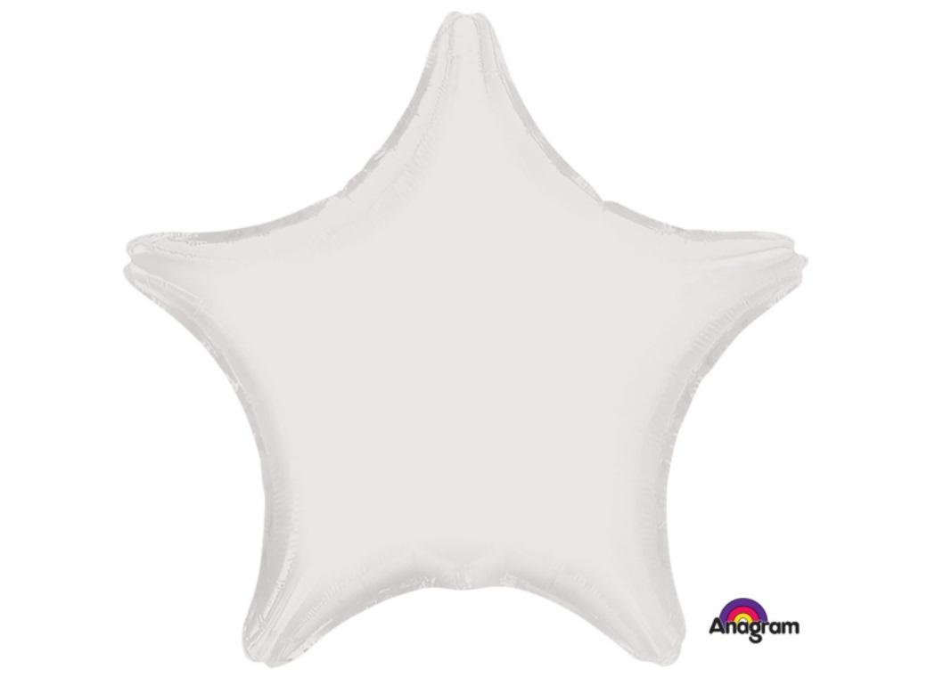 Star Shaped Foil Balloon - White