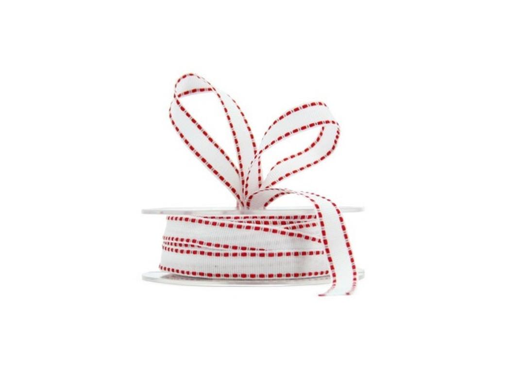 White&Red Grosgrain Ribbon