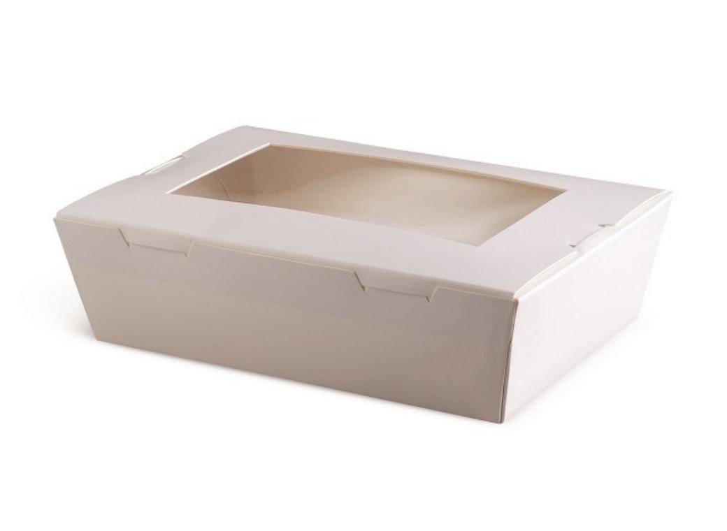 White Window Lunch Boxes - 4 Sizes