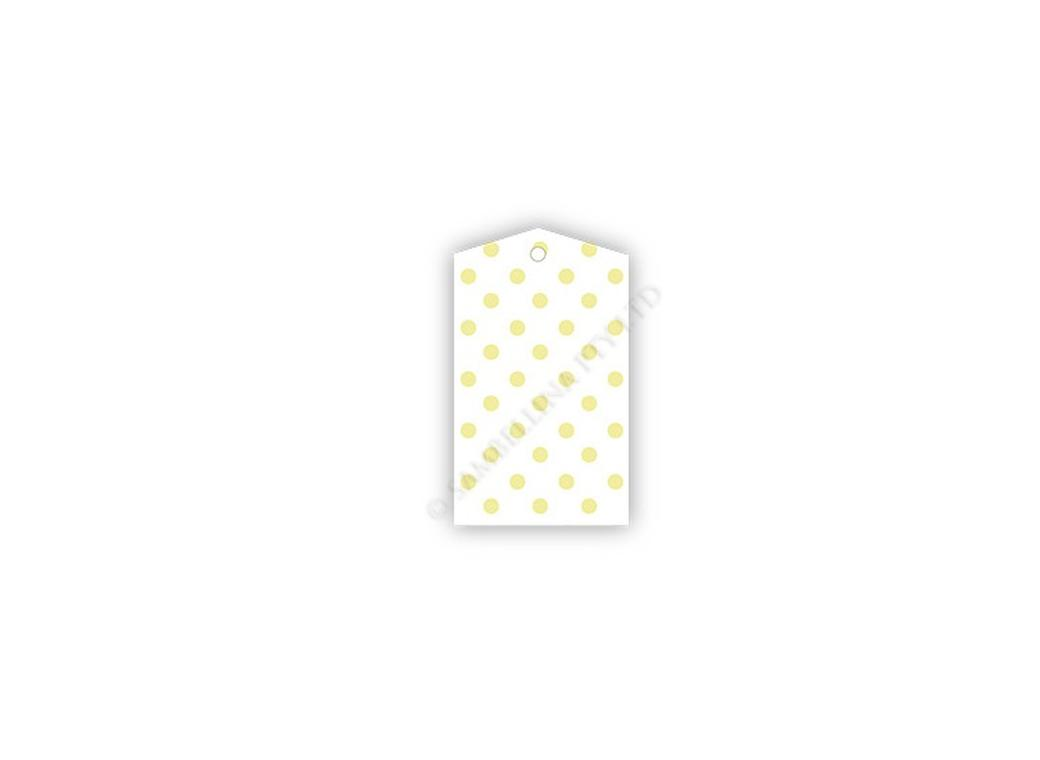 Sambellina Gift Tags - White with Yellow Dots