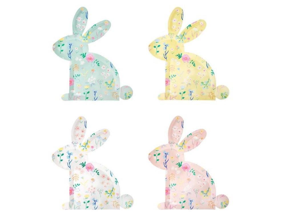 Wildflower Bunny Shaped Plates 12pk