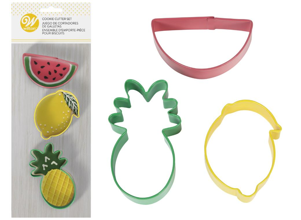 Wilton 3pce Fruit Cookie Cutters Set