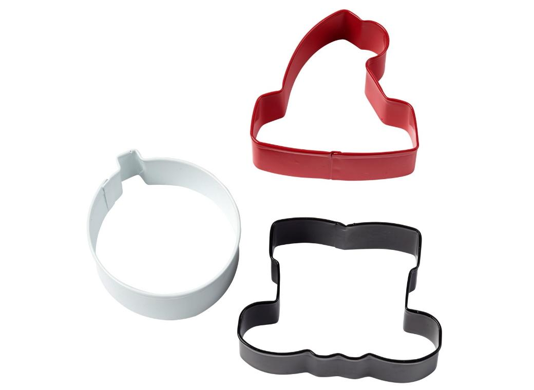 Wilton 3pce Santa Cookie Cutter Set
