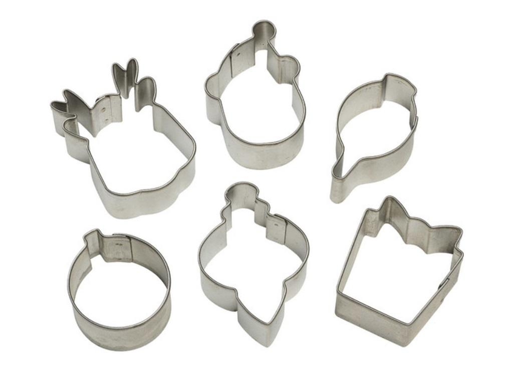 Wilton 6pce Christmas Mini Cookie Cutters