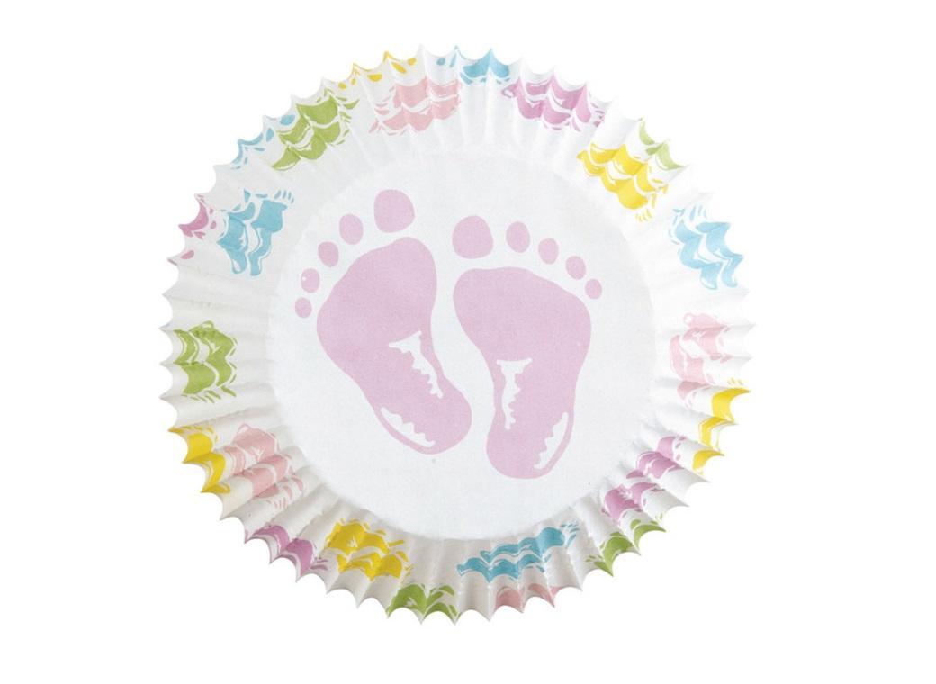 Wilton Cupcake Cases - Baby Feet 75pk