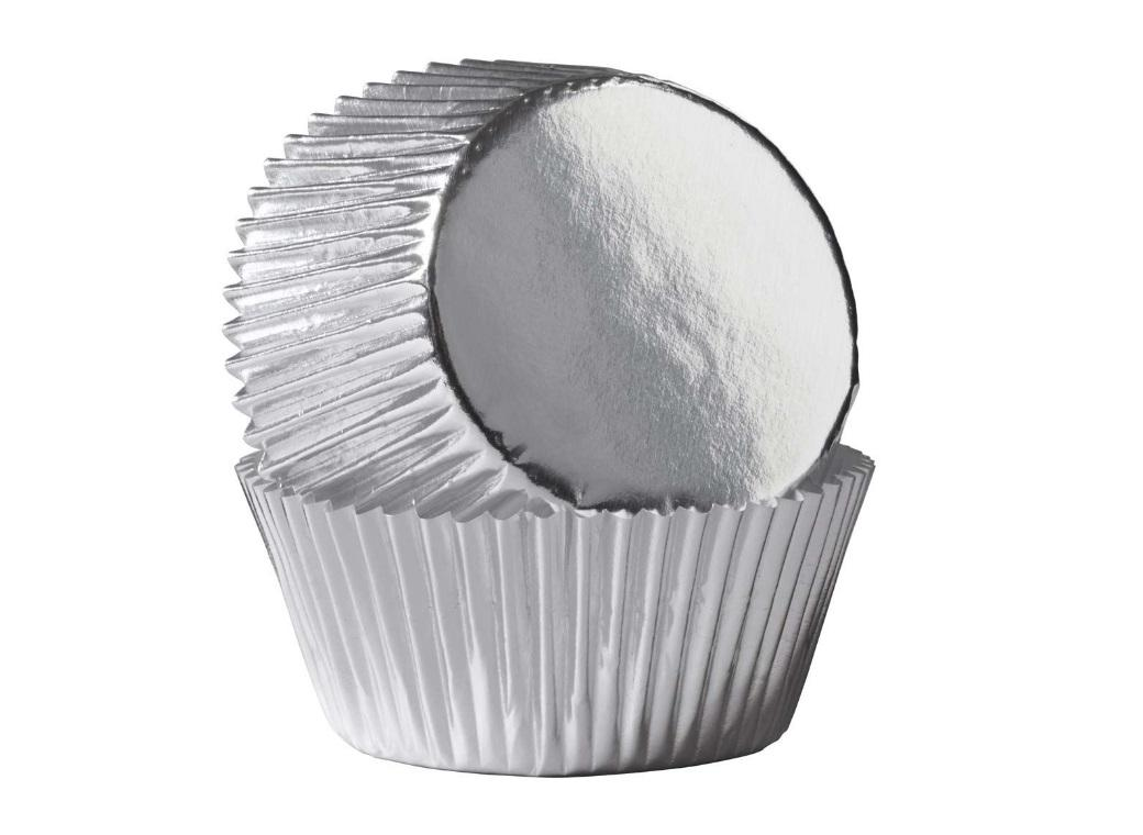 Wilton Cupcake Cases - Silver Foil
