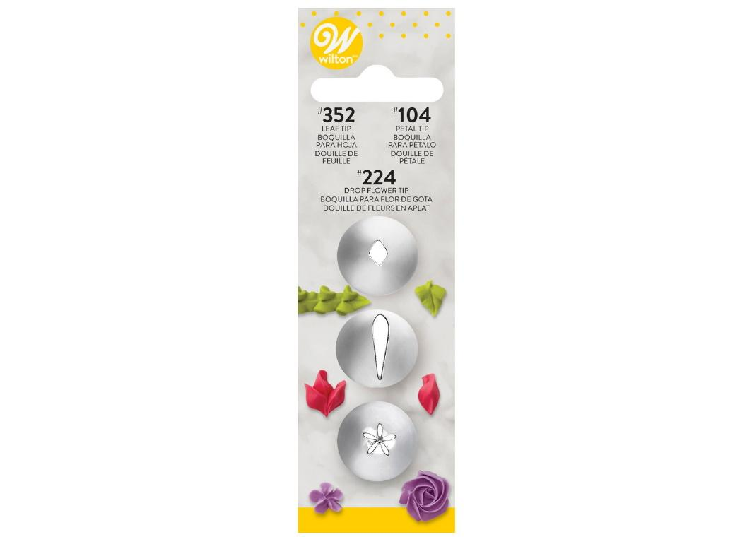 Wilton Petal Leaf & Drop Flower Tip Set