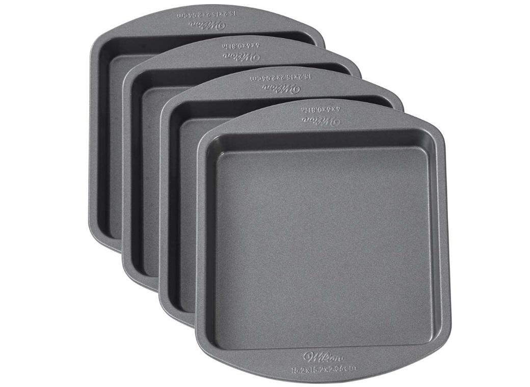 Wilton Easy Layers 4 Layer Cake Pan Set - Square