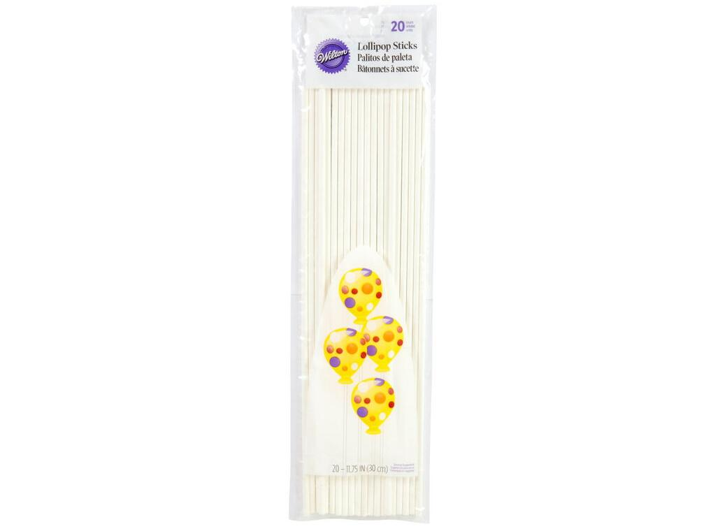 Wilton 30cm Lollipop Sticks 20pk