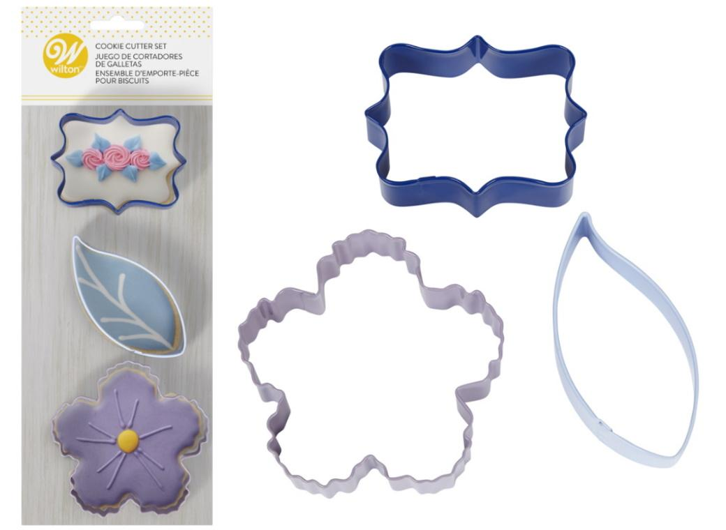 Wilton 3pce Floral Cookie Cutters Set