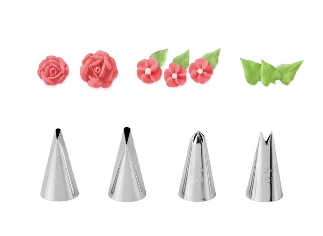 Wilton Flower 4pc Tip Set