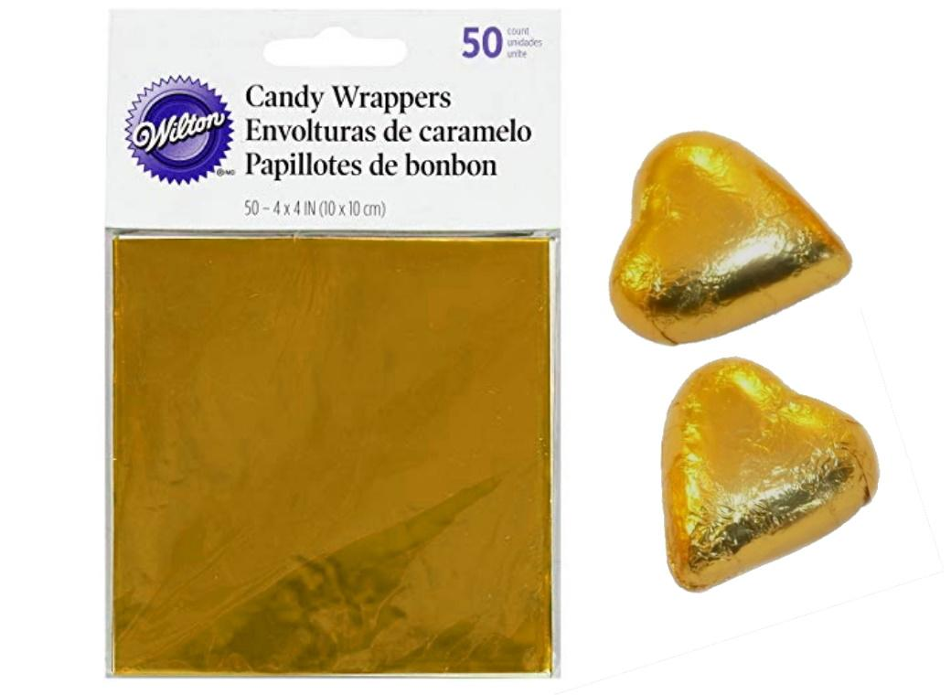 Wilton Foil Wrappers 50pk - Gold