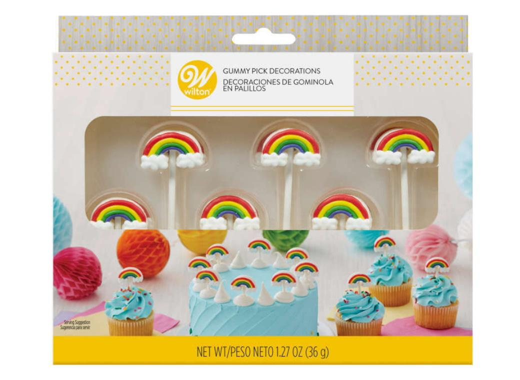 Wilton Gummy Rainbow Pick Decorations