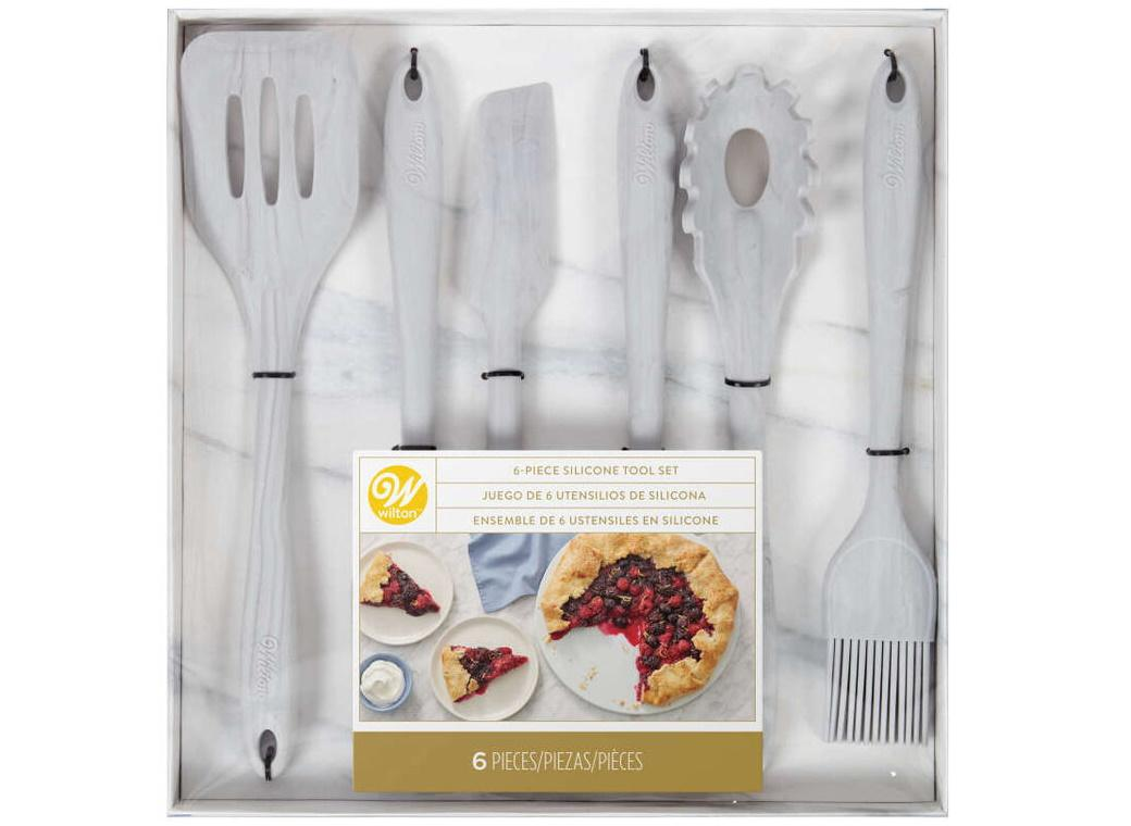 Wilton 6pce Marbled Silicone Utensil Set