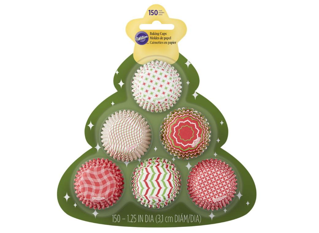 Wilton Mini Cupcake Cases - Christmas Tree 150pk