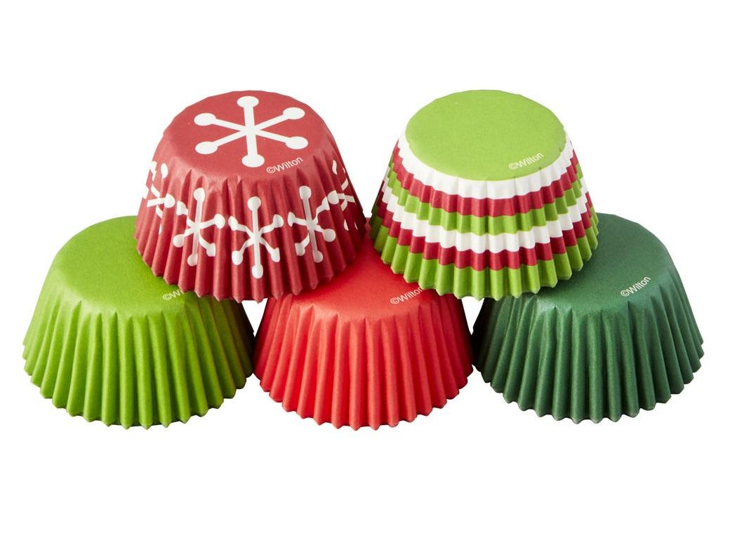 Wilton Mini Cupcake Cases - Holiday 150pk