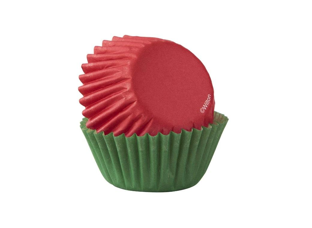 Wilton Mini Cupcake Cases - Red & Green