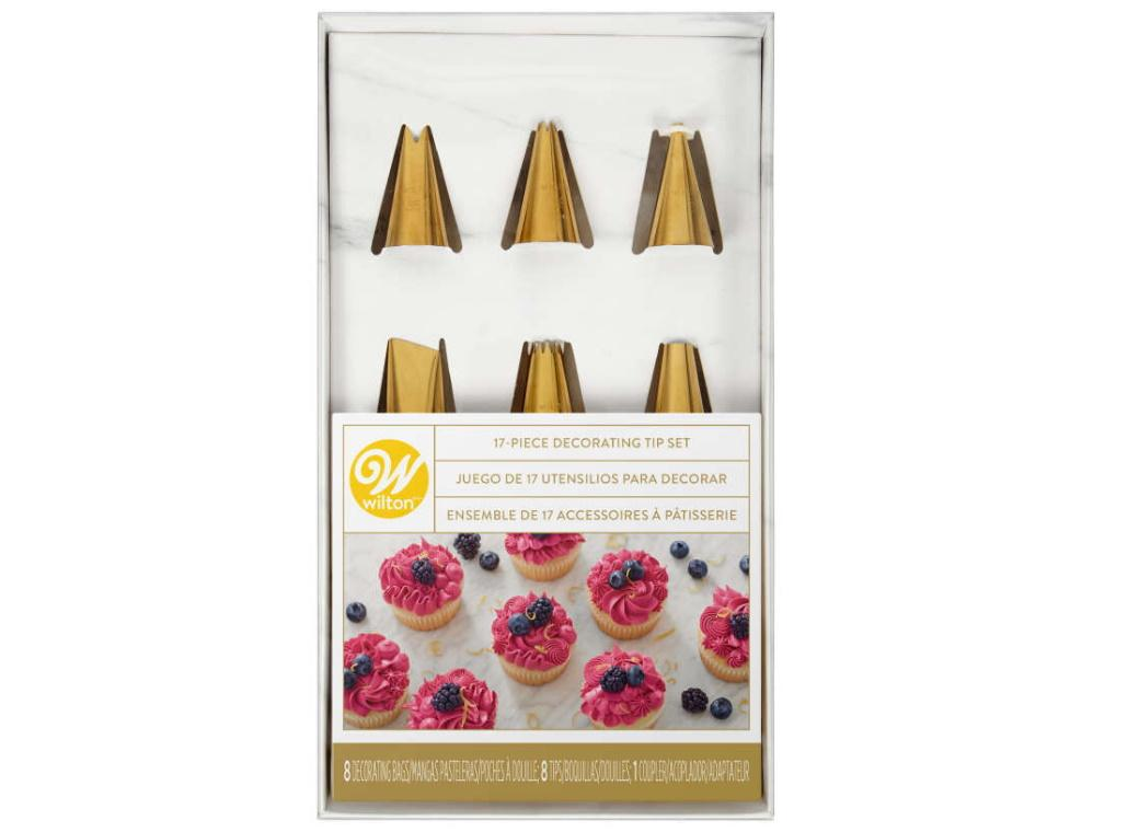 Wilton Navy & Gold Decorating Tip Set