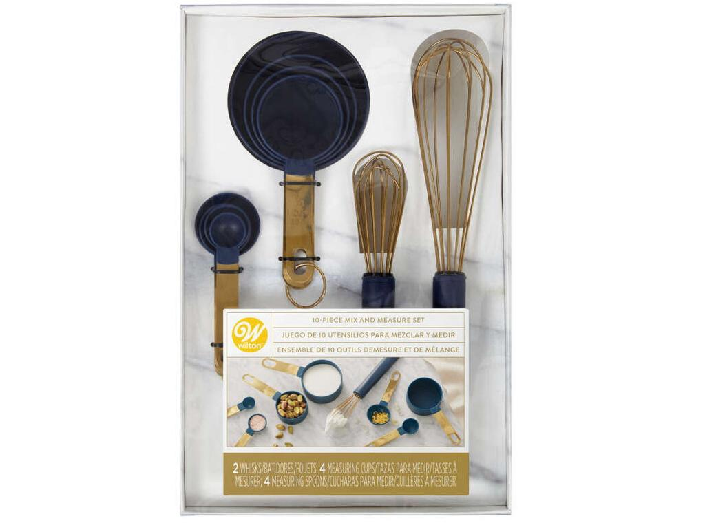 Wilton Navy & Gold Mix & Measure Set