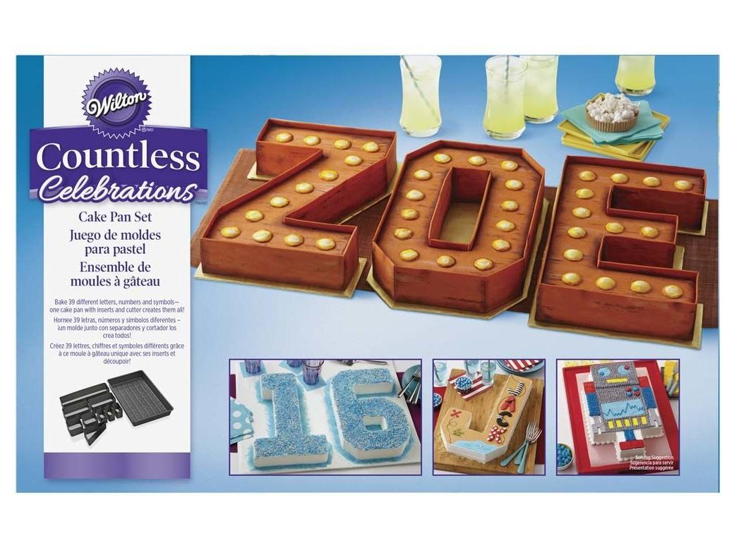 Numbers Letters Cake Pan Set