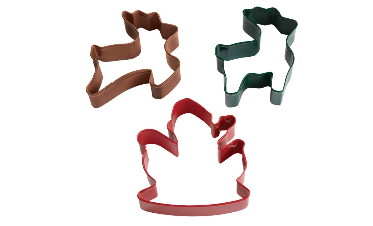 Wilton Santa & Reindeer Cookie Cutter Set 3 pce
